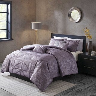 Madison Park Nico Purple Duvet Cover Set