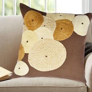 Brown Cotton Square Decorative Throw Pillow (Set of 2)