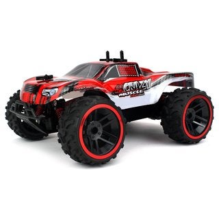 Velocity Toys Buggy Crazy Muscle Remote Control RC Truck Truggy 2.4 GHz PRO System 1:16 Scale Size (Colors May Vary)