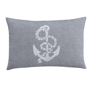 Brielle Harbor Grey Decorative Sailboat Pillow