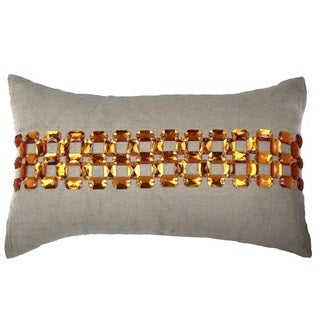 Gem Opulence 100-percent Cotton 14-inch x 20-inch Decorative Throw Pillow
