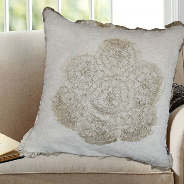 Shop Square Off White Cotton Decorative Throw Pillow Set