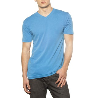 Men's Threadfast Pigment Dyed V-neck Short Sleeve Tee