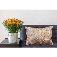 Spiral Lace Geometric 14-inch x 20-inch Decorative Throw Pillow