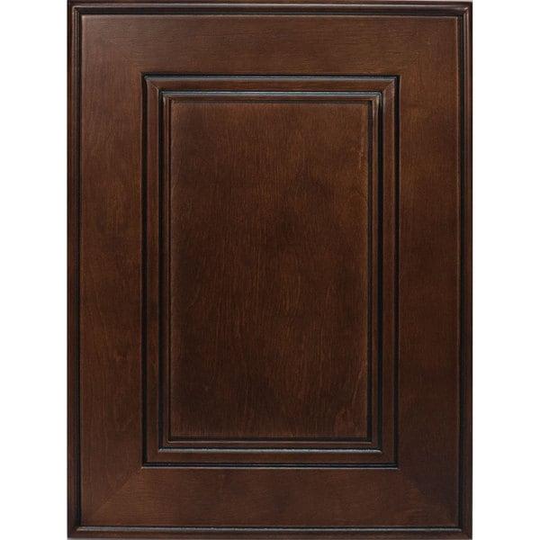 Everyday cabinets cherry mahogany brown leo saddle cabinet for Cherry mahogany kitchen cabinets