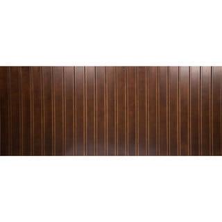 Everyday Cabinets 42-inch Cherry Mahogany Brown Leo Saddle Decorative Plywood Panel