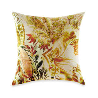 Tracy Porter Michaila Floral-print Velvet 18-inch Square Decorative Pillow