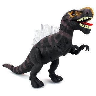 Velocity Toys Dino Kingdom Spinosaurus Battery Operated Walking Toy Dinosaur Figure