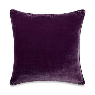 Tracy Porter Kit 20-inch Purple Velvet Decorative Pillow