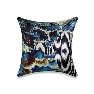 Tracy Porter Sisley Velvet 18-inch High x 18-inch Wide Printed Decorative Pillow