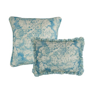 Sherry Kline Vienne Blue Combo Decorative Throw Pillow (set of 2)