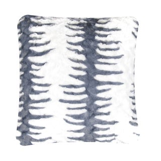 Anna Ricci Grey and White Faux Fur Pillow