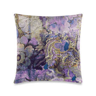 Tracy Porter Kit 18 x 18 Printed Floral Velvet Decorative Pillow