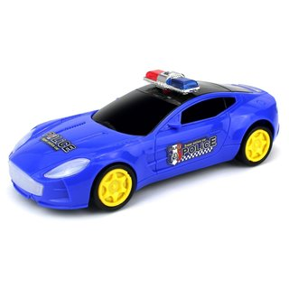 Velocity Toys Supercar Police Battery Operated Kids' Bump and Go Toy Car (Colors May Vary)