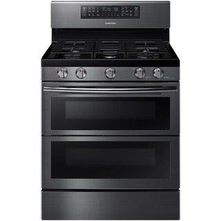 Samsung Black 30-inch Slide-in Gas Range with Divisible Oven