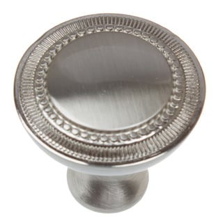 GlideRite 1.25-inch Satin Nickel Hammered Cabinet Knobs (Pack of 10 or 25)