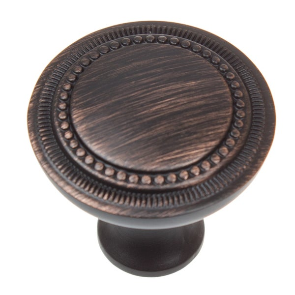 GlideRite 1 25 inch Oil Rubbed Bronze Hammered Cabinet Knobs (Pack of