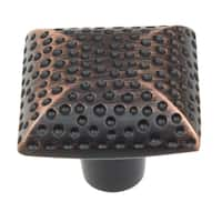 GlideRite 1.25-inch Oil Rubbed Bronze Hammered Cabinet Knobs (Pack of 10 or 25)