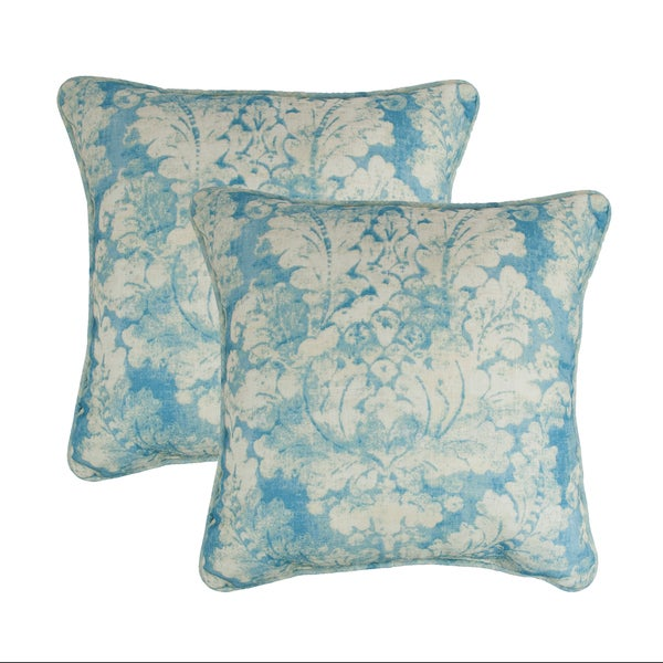 Sherry Kline Vienne Blue 18-inch Decorative Pillow (set of 2)