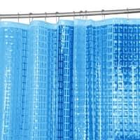 Bath Bliss 3D Octagon Design PEVA Shower Curtain in Light Blue