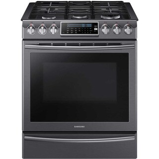 Samsung Black Stainless Steel 30-inch Slide-in Gas Range