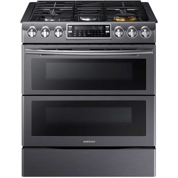 samsung 30 inch flex duo slide in gas range free shipping today 19159060. Black Bedroom Furniture Sets. Home Design Ideas