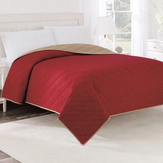 Porch & Den Carnelian Reversible Solid Coverlet