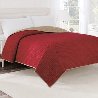 Porch & Den Noe Valley Carnelian Reversible Solid Coverlet (3 options available)