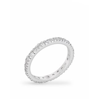 Link to Kate Bissett Clear Cubic Zirconia Brass Eternity Ring - White Similar Items in Rings
