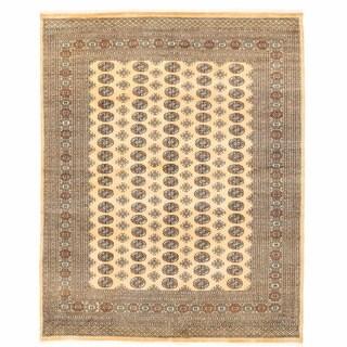 Herat Oriental Pakistani Hand-knotted Bokhara Wool Rug (8' x 10'3)