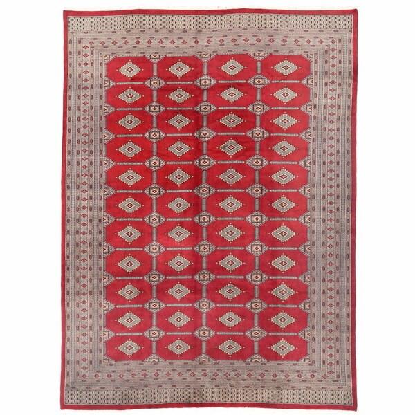 Herat Oriental Pakistani Hand-knotted Bokhara Wool Rug (9'4 x 12'6)