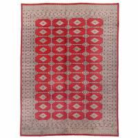 Herat Oriental Pakistani Hand-knotted Bokhara Wool Rug (9'4 x 12'6) - 9'4 x 12'6