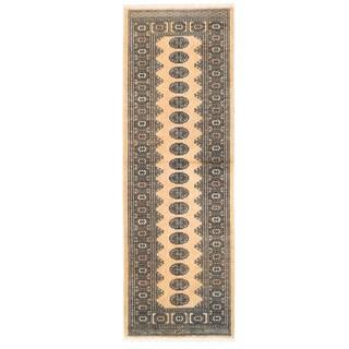 Herat Oriental Pakistani Hand-knotted Bokhara Wool Rug (2'8 x 8'3)