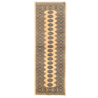 Herat Oriental Pakistani Hand-knotted Bokhara Wool Rug (2'8 x 8'1)