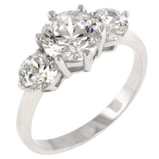Kate Bissett Classic Clear Triplet Engagement Ring