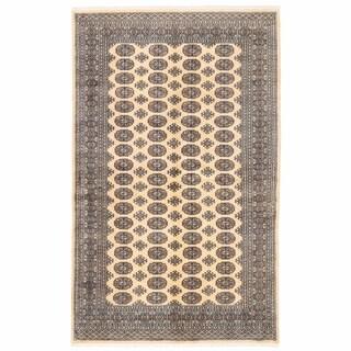Herat Oriental Pakistani Hand-knotted Bokhara Wool Rug (4'11 x 8')