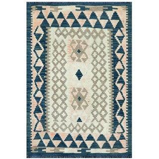 Herat Oriental Afghan Hand-woven Wool & Jute Kilim (2'4 x 3'3)