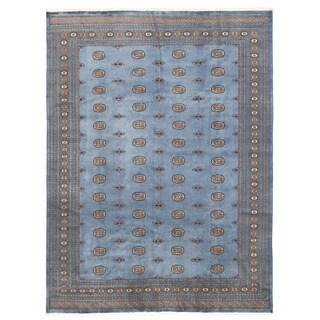 Herat Oriental Pakistani Hand-knotted Bokhara Wool Rug (9'3 x 12'2)