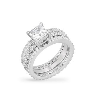 Kate Bissett Bridal Triple Ring Set White