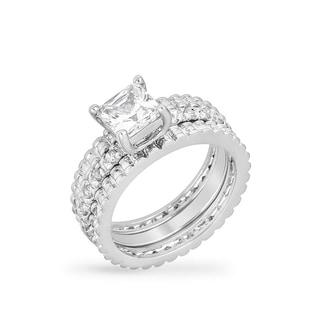 Kate Bissett Bridal Triple Ring Set - White