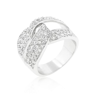 Kate Bissett Rhodiom Plated Cubic Zirconia Knot Ring