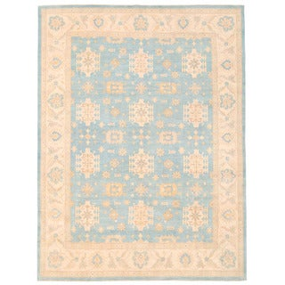Herat Oriental Afghan Hand-knotted Oushak Wool Rug (8'11 x 11'10)