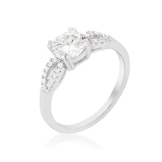 Kate Bissett Round Solitaire Engagement Ring - Red