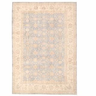Herat Oriental Afghan Hand-knotted Oushak Wool Rug (9'11 x 14'5)