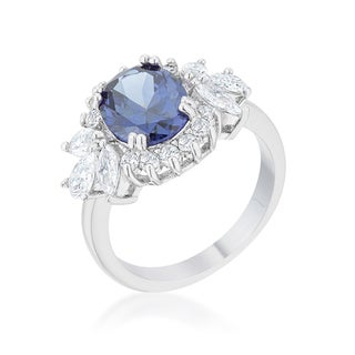 Kate Bissett Krizia Rhodium-plated 4.2-carat Tanzanite Cubic Zirconia Classic Ring - White