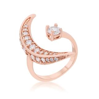 Kate Bissett Luna .75-carat Cubic Zirconia Rose Gold Delicate Ring