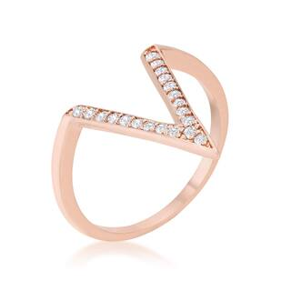 Kate Bissett Michelle 0.2ct Rose Gold Delicate V-Shape Ring - Red https://ak1.ostkcdn.com/images/products/12327050/P19159219.jpg?impolicy=medium