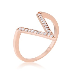 Kate Bissett Michelle 0.2ct Rose Gold Delicate V-Shape Ring