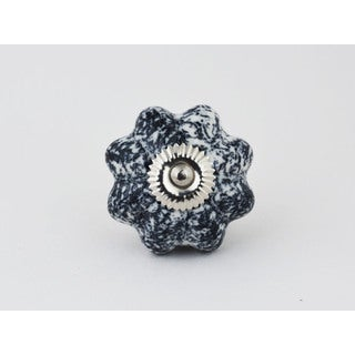 Black/White Ceramic 2-piece Knob Set