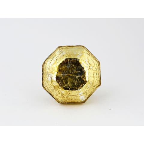 Mercury Gold Crackle Glass Cabinet Knobs Set